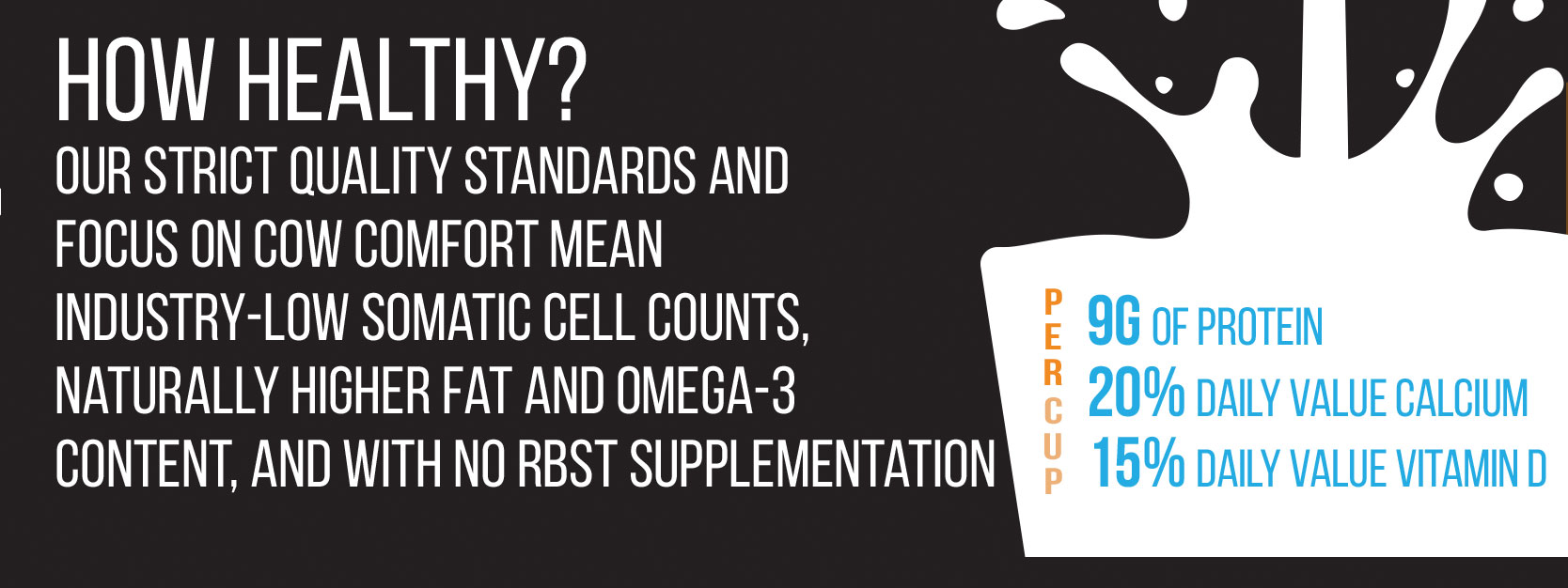 How Good? our industry-low somatic cell count means better nutrition, naturally and without supplements
